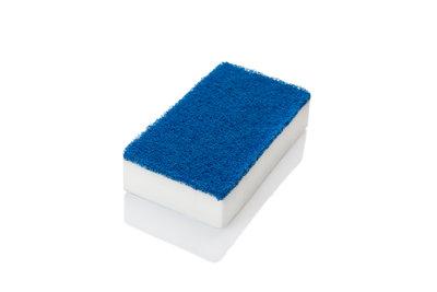 P07962 Dubbelzijdige spons - wit/blauw